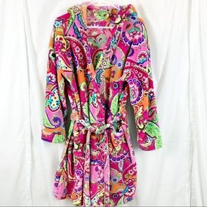 Vera Bradley Cuddly Robe with Hood and Pockets.